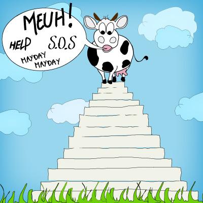 Zoom sur la viande de boeuf de nos assiettes vachement - Dessin vache humour ...