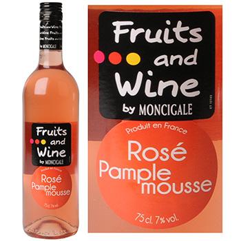 Vin rosé pamplemousse