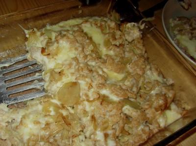 gratin de pâtes au Moulis ariège