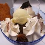 Mont Valier : crème de marrons au Rhum, glaces vanille et chocolat