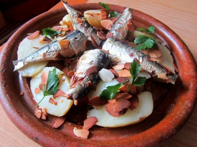 tajine avec des sardines de bretagne comptoir de belle-ile