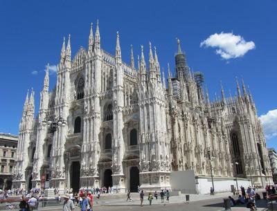 Milan, Lombardie, place de la cathédrale