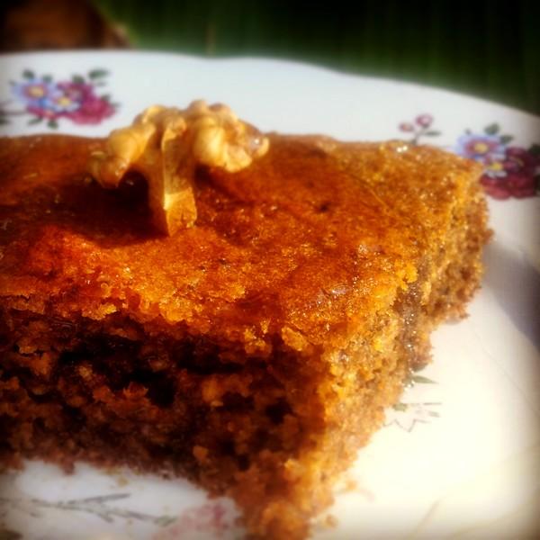 Gateau orange noix miel