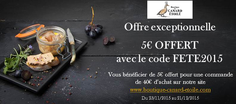 CanardEtoile_codepromotionnel