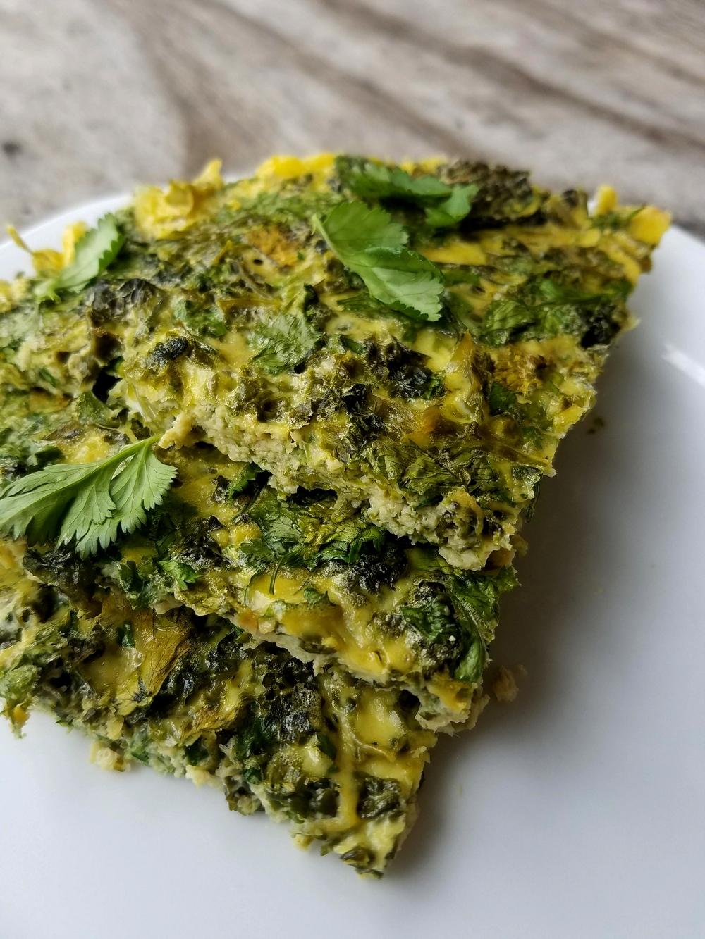 Recette d'Iran : le kuku iranien, omelette aux herbes