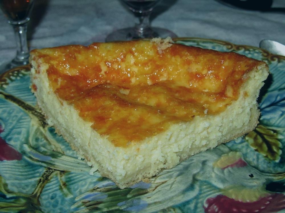 Tarte à la tome, encalat, fromage caillé, dessert de l'Aveyron et Auvergne