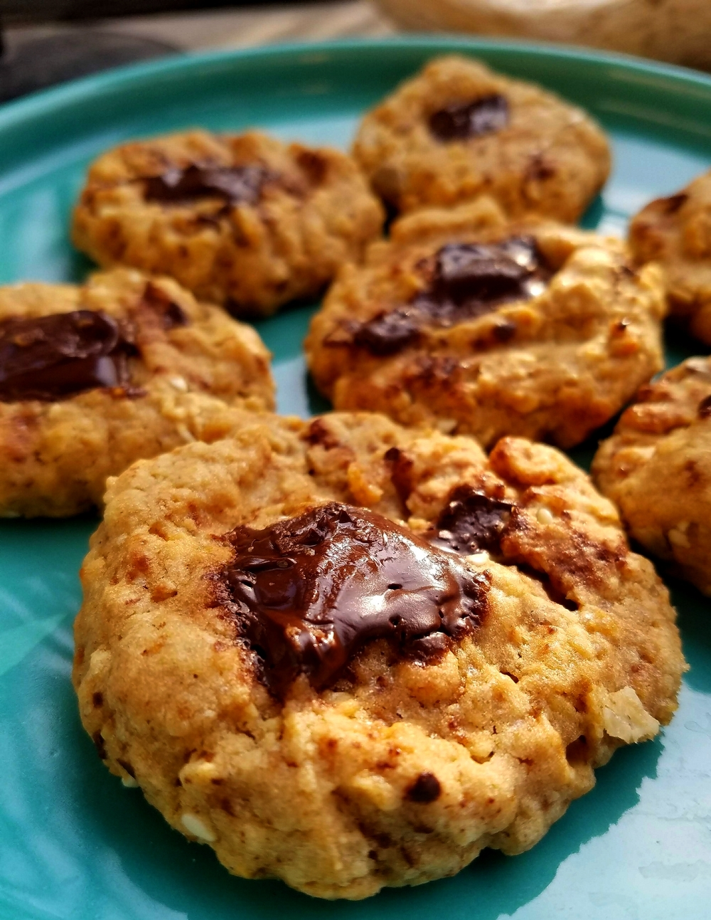 Cookies cacahuètes chocolat graines