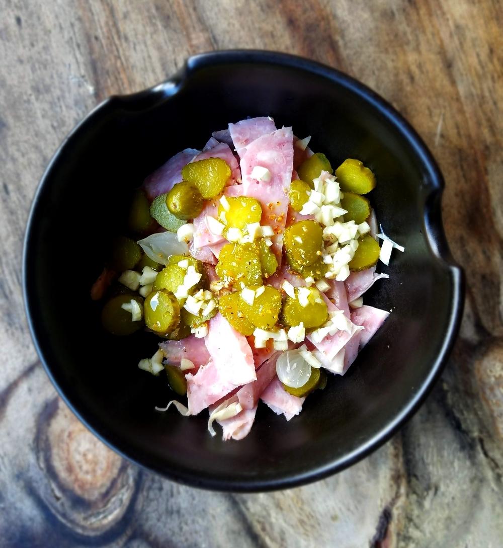 Salade de tête au saucisson à l'ail