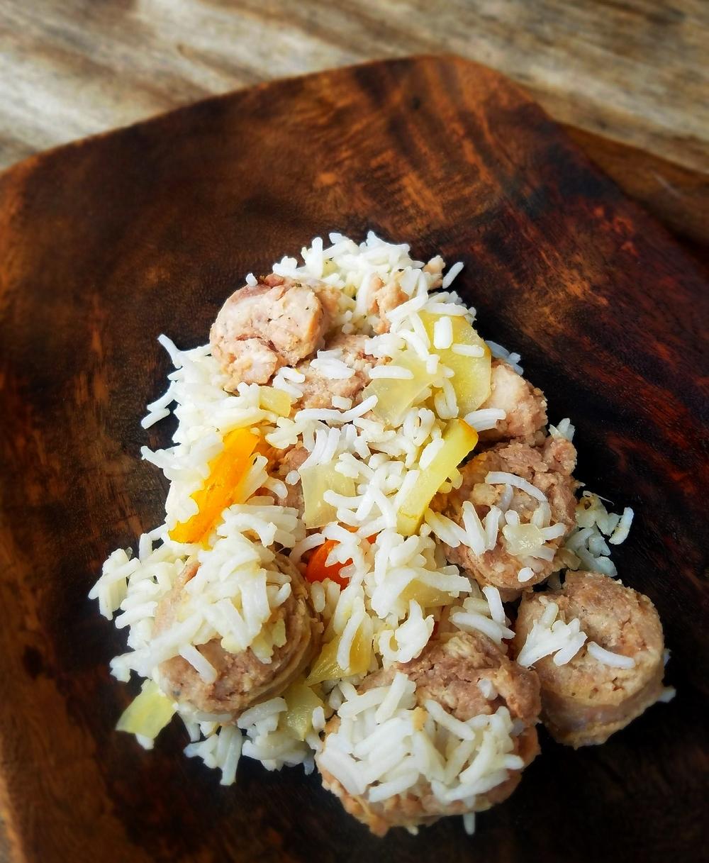 Plov Ouzbékistan riz carottes saucisse