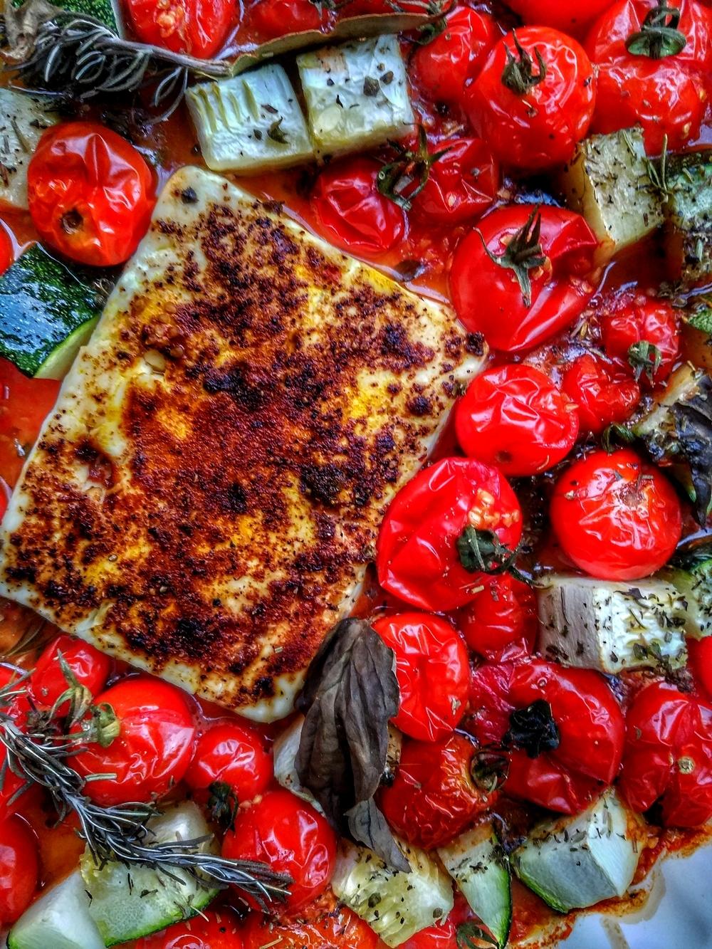 Feta aux épices rôtie au four
