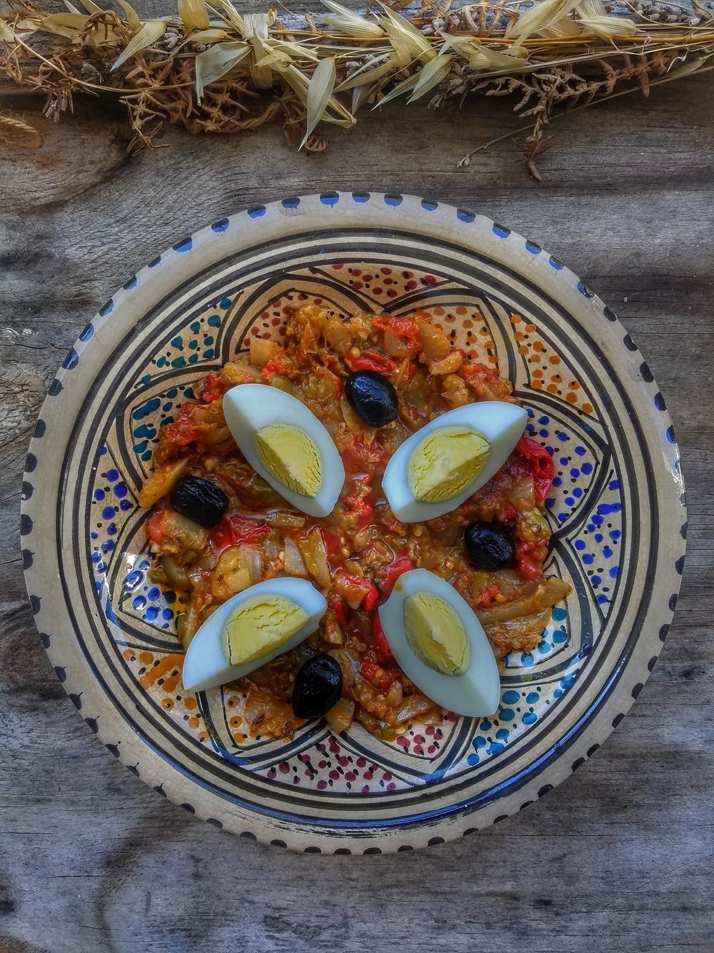 Salade mechouia Tunisie