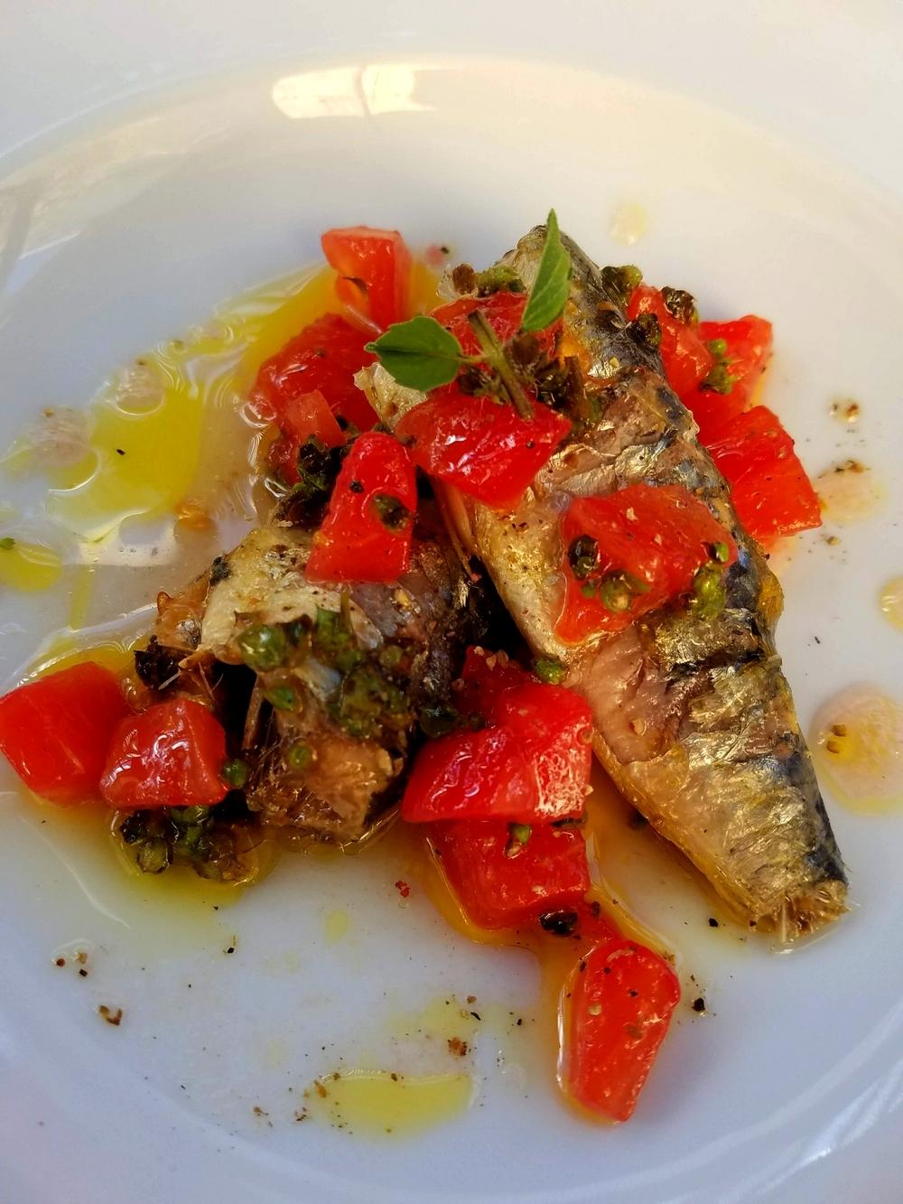 Sardines sauce vierge