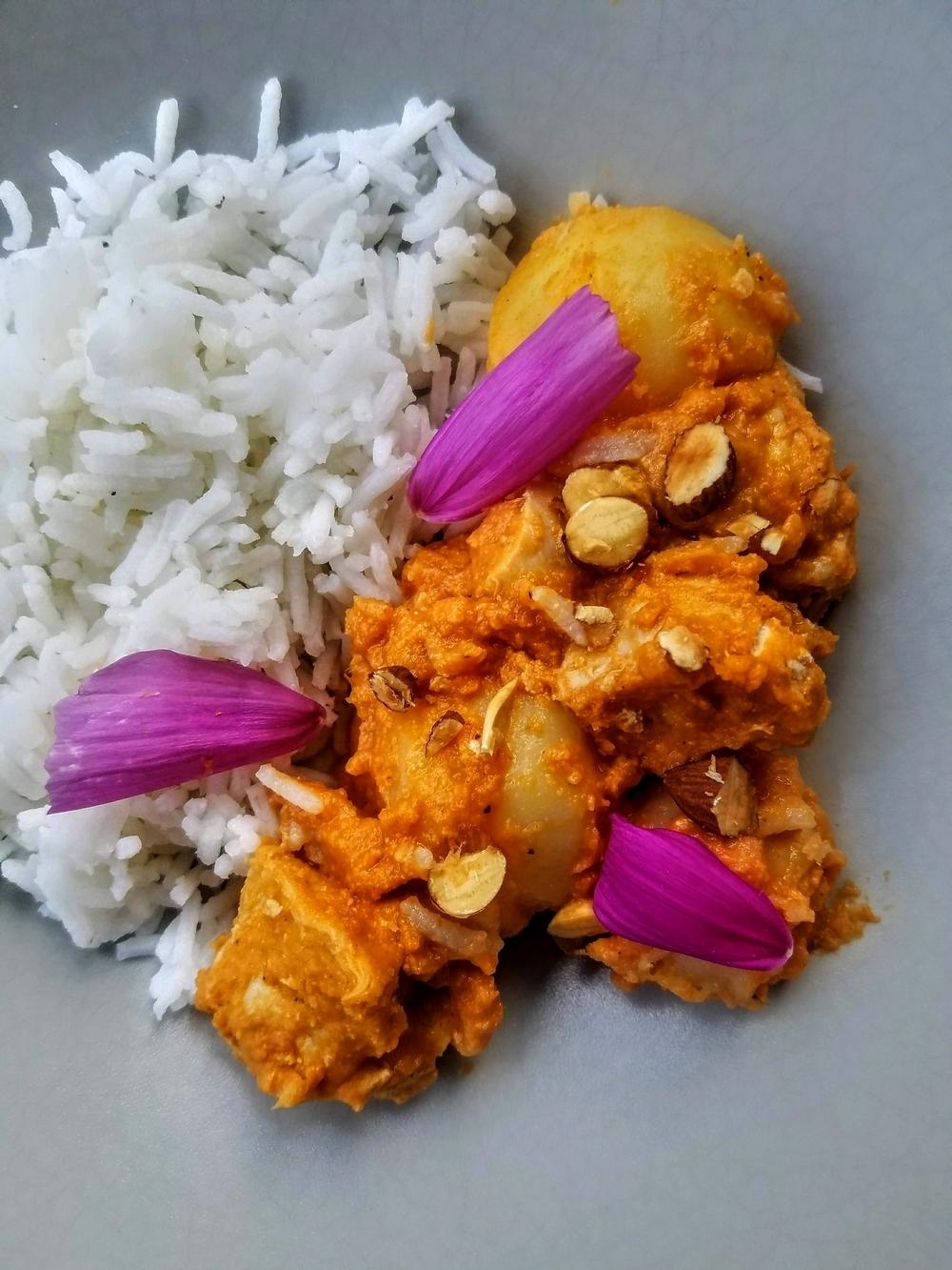 Poulet curry massaman de Thaïlande