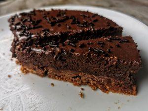 Faux trianon sans cuisson au chocolat