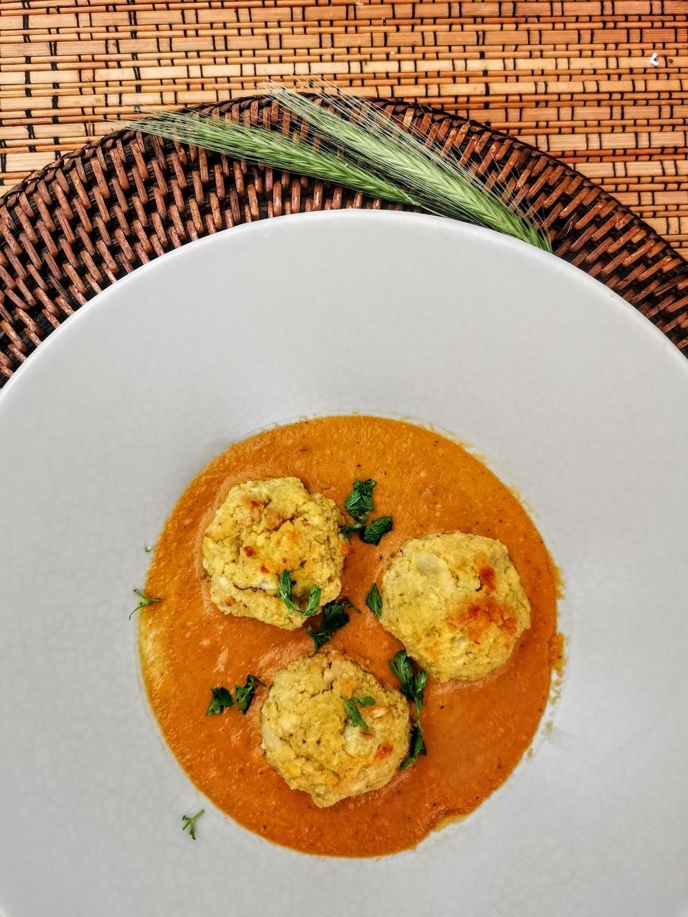 Malai kofta, boulettes de pommes de terre indiennes, sauce crémeuse