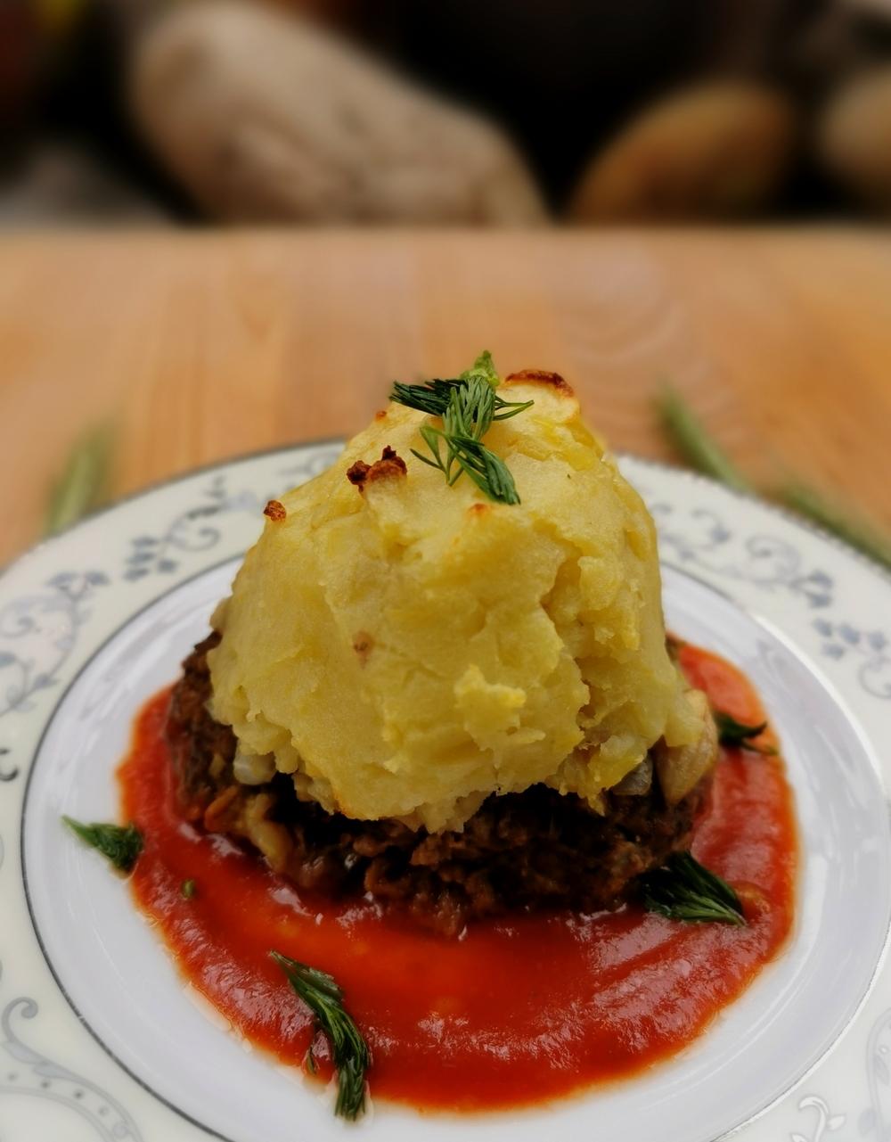 Kofta hassan pacha, boulettes turques à la purée et au fromage
