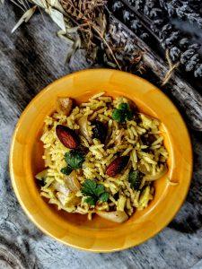 Machboos, riz au poulet parfumé aux épices (pays arabes)