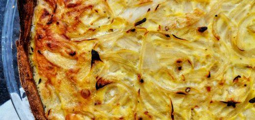 Tarte à l'oignon alsacienne, zwiebelkuche