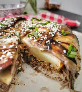 Maqlouba riz aubergines