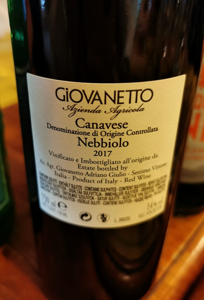 Vin Nebbiolo, Italie, Piémont