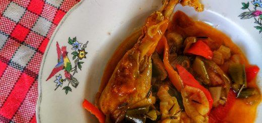 Poulet basquaise aux piments doux
