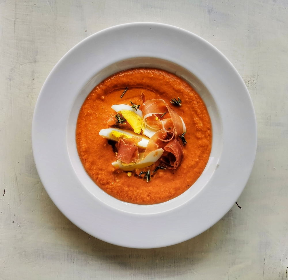 Salmorejo, crème de tomates andalouse